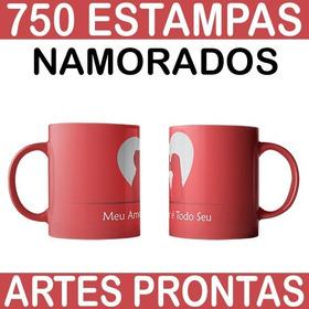 Artes Canecas Dia Dos Namorados 750 Estampas Prontas