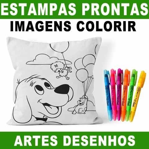 Artes Desenhos Colorir Desenhar Pintar Sublimacao Almofadas R