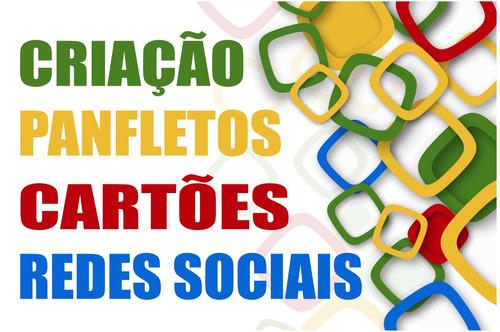 artes gráficas - banner, panfletos, catões e redes sociais