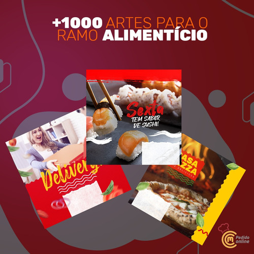 artes para pizzaria + de 1000 artes para ramo alimentício