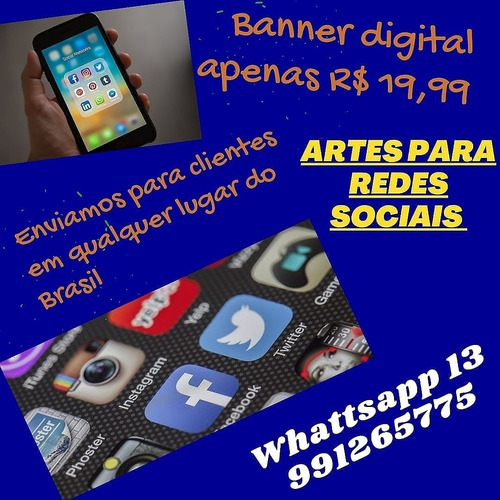 artes para redes sociais. (instagram/facebook)