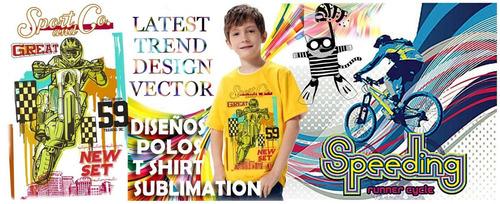 artes vectores serigrafía estampado sublimación polos niños