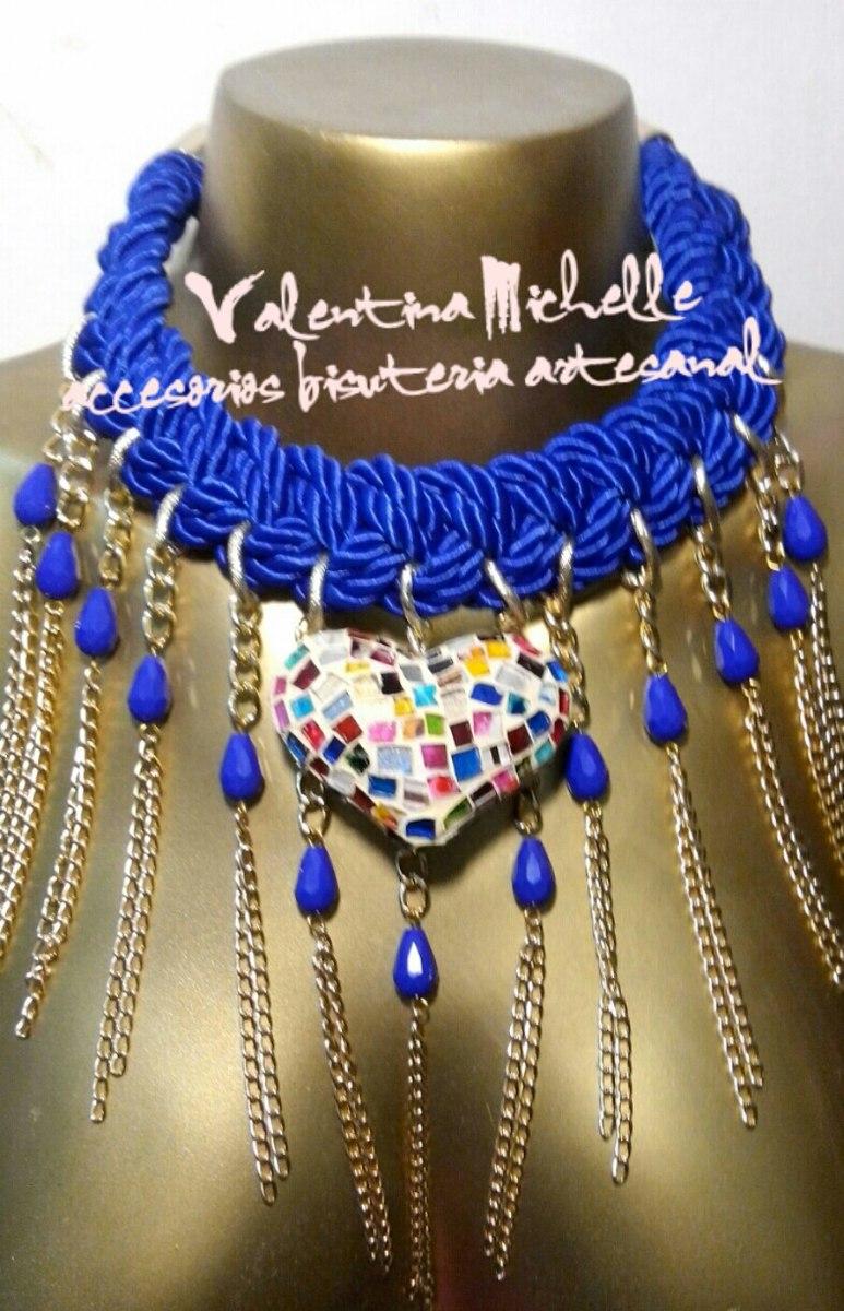 30f5122c2518 Artesanal Collar Frida Kahlo Dije Corazon Pintando A Mano -   299.00 ...
