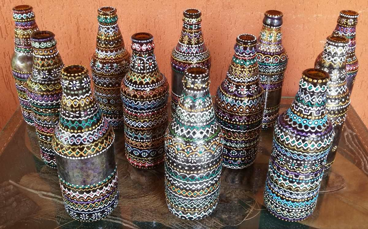 Aparador Laca Preta ~ Artesanato, Arte No Reciclável, Luxo Do Lixo R$ 50,00 em Mercado Livre