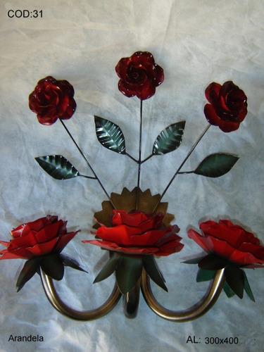 artesanato de ferro arandela
