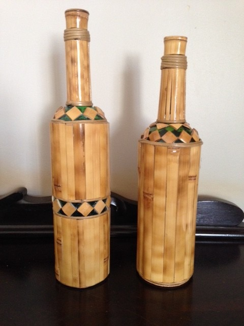 Artesanato Com Cd Velho ~ Artesanato Em Bambú Bandeja, Garrafas, Potes E Xícaras R$ 329,00 em Mercado Livre