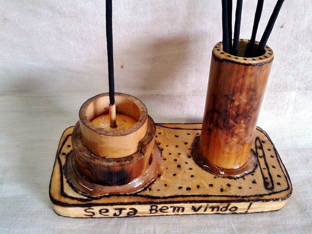 Artesanato Com Cd Velho ~ Artesanato Em Bambu, Esotérico, Móveis De Bambu, Utilidades R$ 49,90 em Mercado Livre