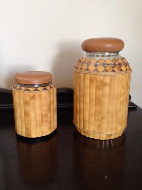 Artesanato Com Cd Velho ~ Artesanato Em Bambú, Potes, Garrafas, Açucareiro, Conserva R$ 49,00 em Mercado Livre