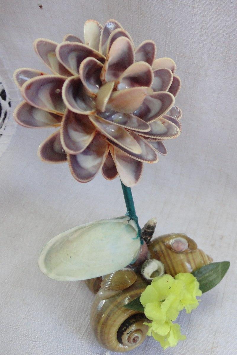 Aparador Adega ~ Artesanato Em Conchas Flores A47 R$ 7,00 em Mercado Livre