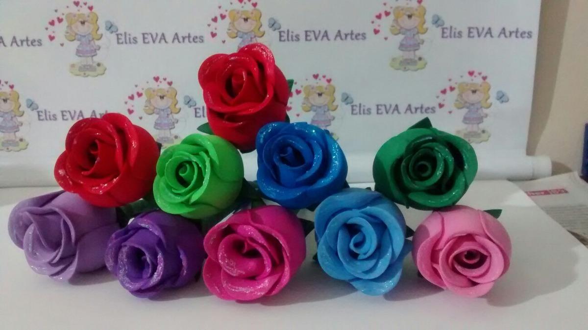 Artesanal Em Ingles ~ Artesanato Em Eva Canetas Decoradas Flor Em Eva Kit C 5 Unid R$ 36,00 em Mercado Livre