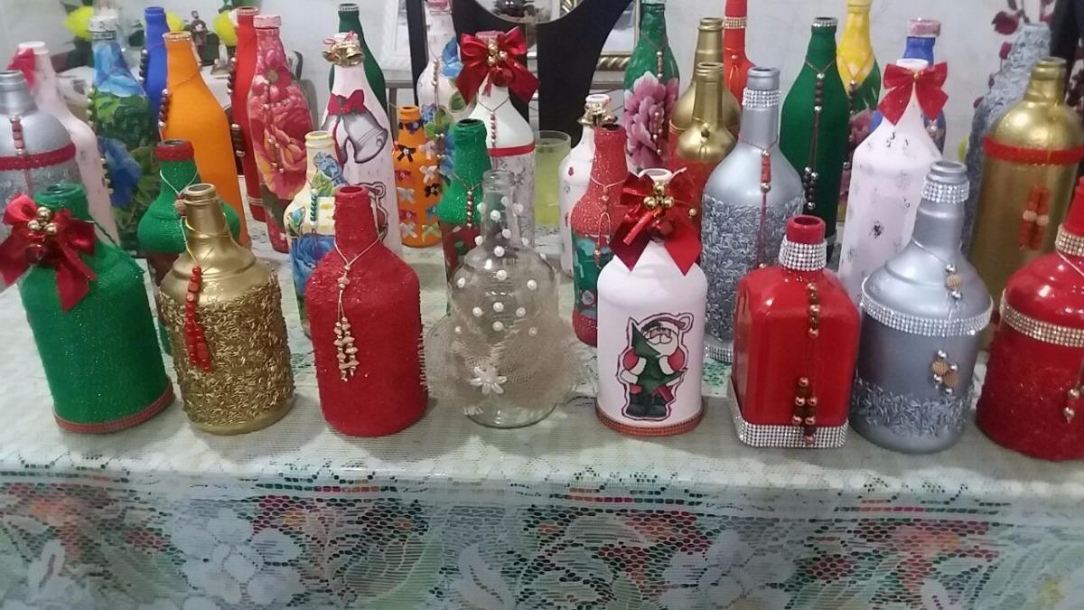 Artesanato Garrafas Personalizadas Para Enfeites E Festas R 2500