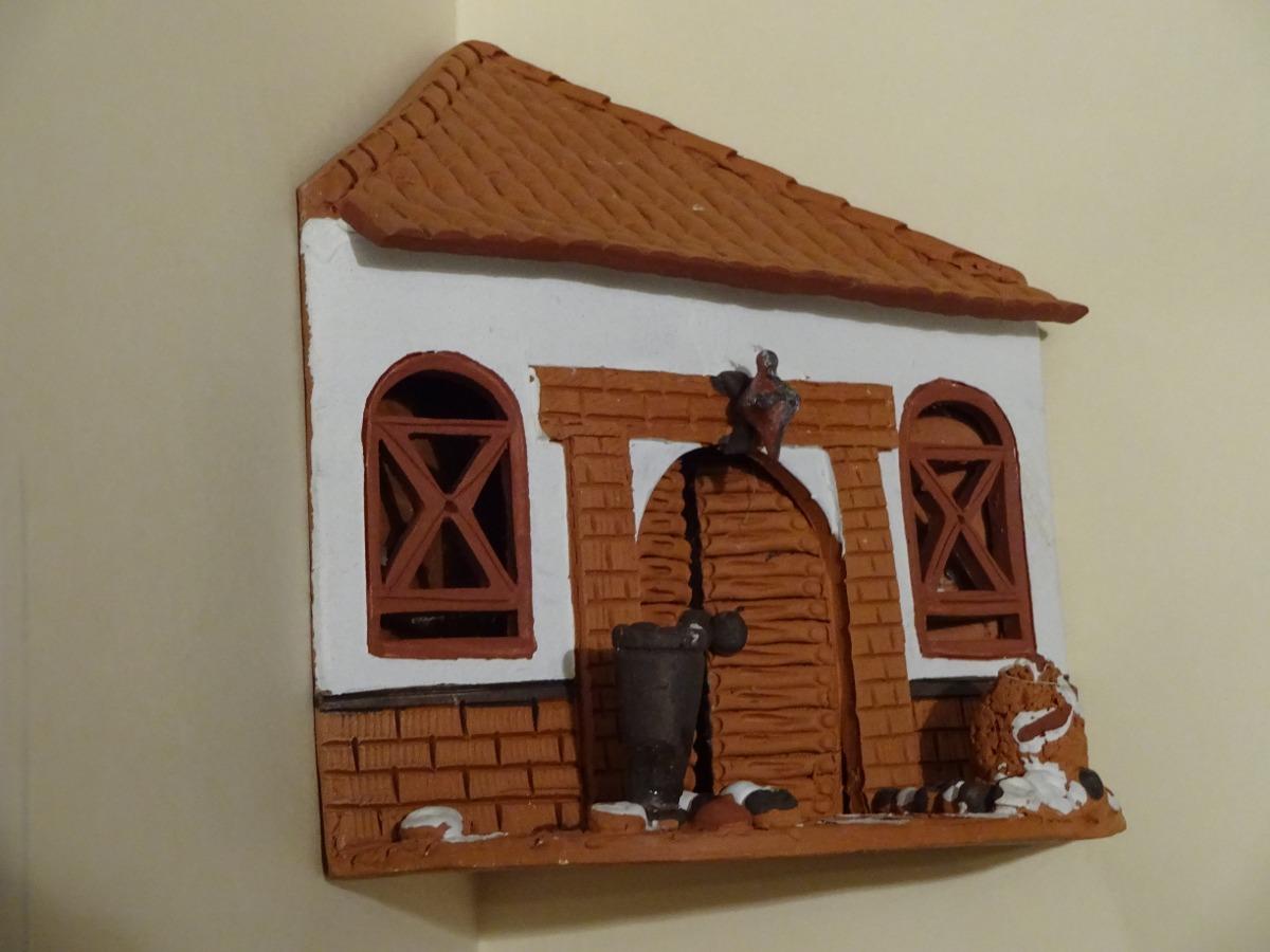 Artesania Casa Colonial Hecha En Arcilla Modelo Esquinero - Bs ...