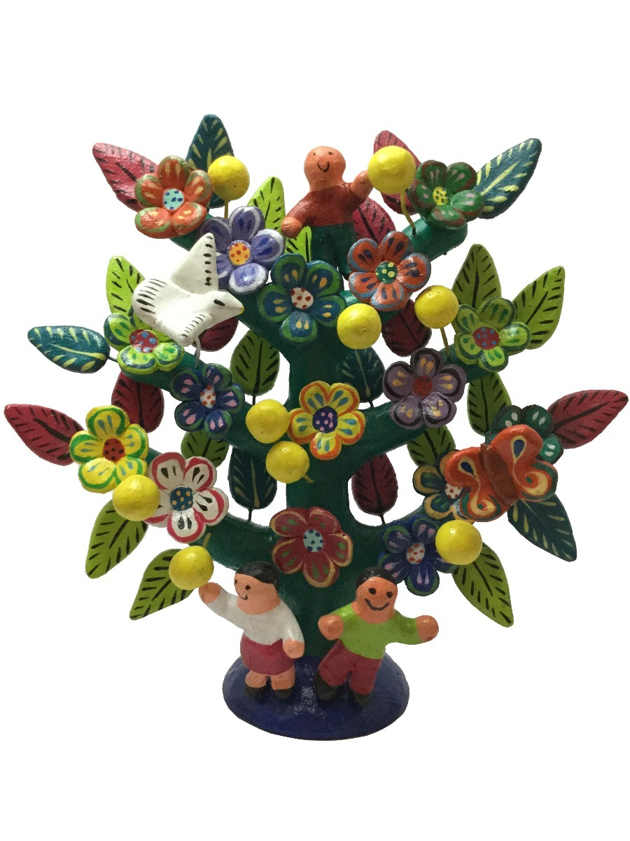 Artesanía De Barro árbol De La Vida Decoración Tonalá 50000 En