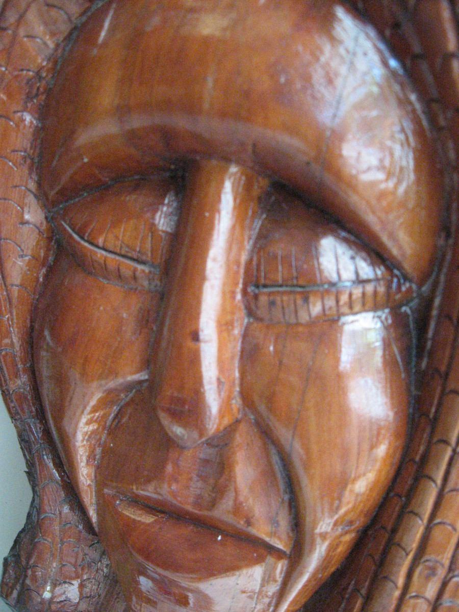 Artesan a en madera chilena hecha en puc n en mercado libre Artesanias en madera