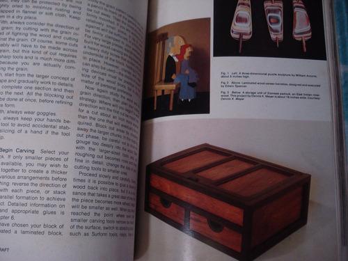 artesanía en madera, muebles - en inglés y francés -8 libros