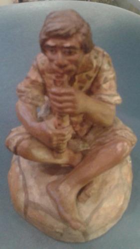 artesania indigena escultura barro ceramica musico flauta