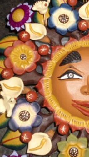 artesanía / mexicana / barro / forgado / metepec / sol
