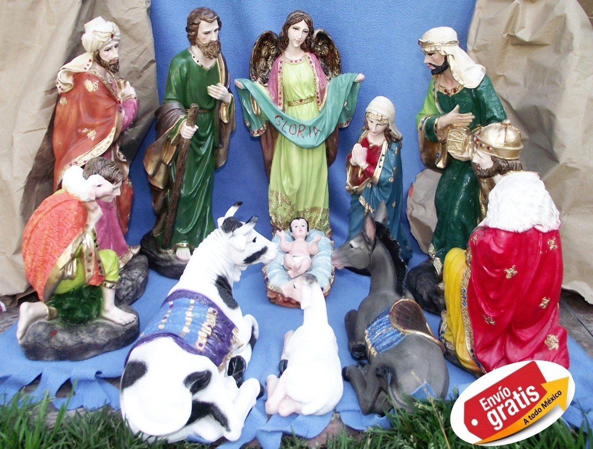 023a518346b Artesania Mexicana Nacimiento Navideño   Decor   Blan   40cm ...