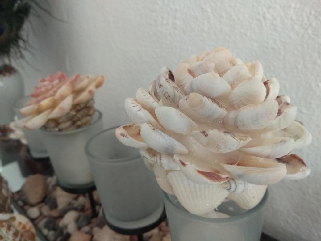 Artesania natural rosas decoracion de conchas y caracol - Artesania y decoracion ...