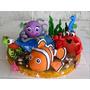 Animales Del Mar Porcelana Fria Torta Cumpleaños Adorno Nemo