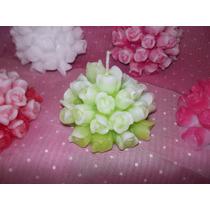 Vela Buque De Rosas Souvenirs 15 Años, Casamientos, Etc