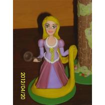 Princesa Rapunzel En Porcelana Fría Para Tu Torta