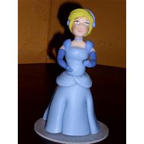 Princesa Cenicienta En Porcelana Fría Para Tu Torta