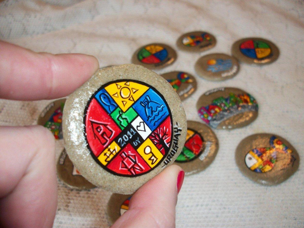 Artesanias imanes de arena pintados a mano souvenir - Artesania de indonesia ...