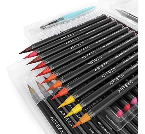 arteza real brush pens, 48 marcadores set de arte