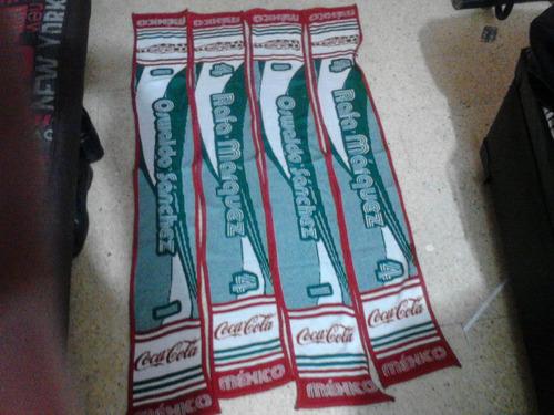 articulos futbol mundial 2006 bufanda coca cola