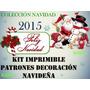 Kit Patrones Para Navidad Lenceria Arbol Botas Luces Recetas