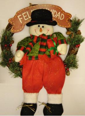 artículos navideños (reloj, coronas, patilargos)