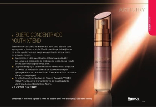 artistry youth xtend, cremas anti edad
