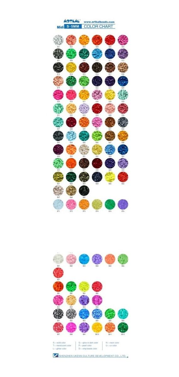 Artkal Beads 30 Bolsitas C/500 Piezas Midi (5mm) Hama Perler