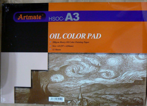 artmate block heavy oil paper (200g) para oleos