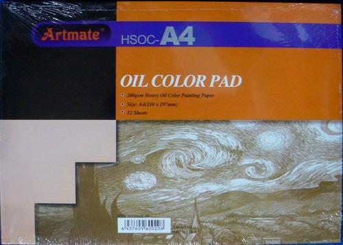 artmate block heavy oil paper (200g) para oleos a4
