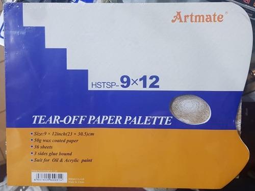 artmate block  paleta descartable  23 x 30,5 cm