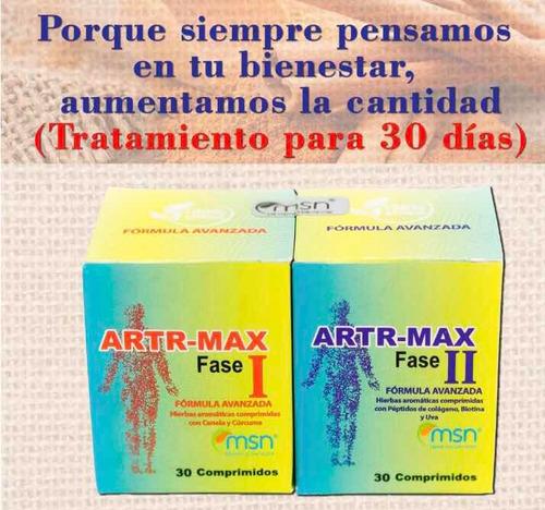 artr-max face 1 y face 2 para dolor articular y muscular
