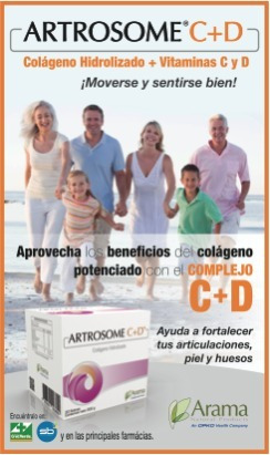 artrosome 30 sobres colágeno hidrólizado+vit cd envio gratis