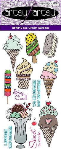 artsy fartsy ice cream scream carimbos