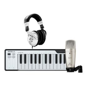Arturia Microlab + Micrófono Behringer C1 + Audifono Hps3000