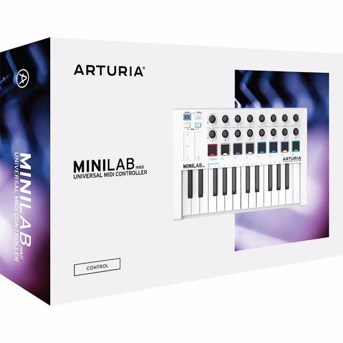 arturia minilab 2 v2 teclado controlador midi 25 teclas loja