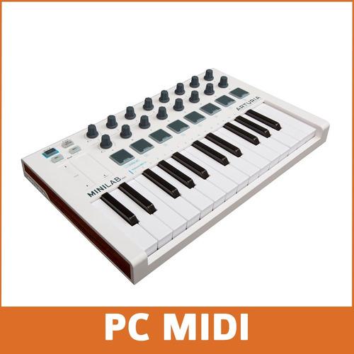 arturia minilab mkii controlador midi 25 teclas pads promo