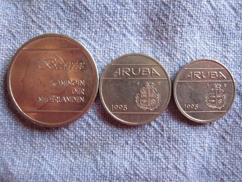 aruba  serie 3 monedas diferentes