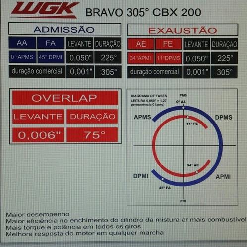 arvore comando cbx200/nx200/xr200 alta performance wgk 11922