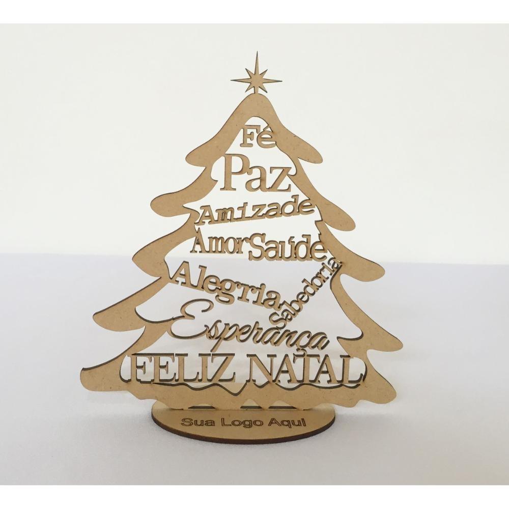 árvore De Natal Brinde Corporativo Lembrancinha Mdf