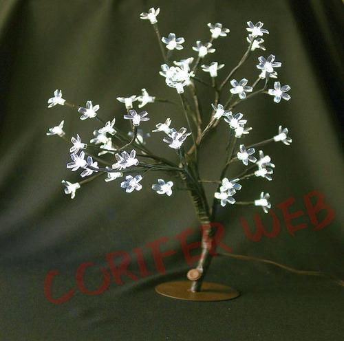 arvore de natal cerejeira branco frio led linda papai noel