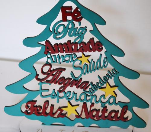 arvore de natal com frases positivas mdf colorido