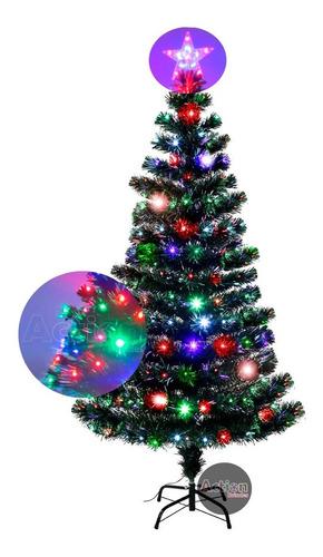 árvore de natal fibra ótica efeito cachoeira 1,50cm - bivolt