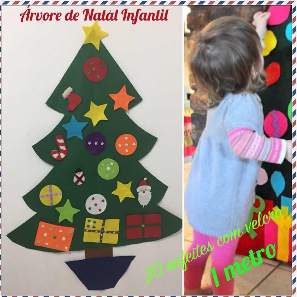 Arvore De Natal Montessori Infantil 1 Metro 20 Enfeites R 69